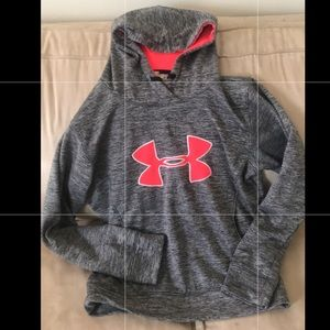 Under Armour women's small gray pink thick hoodie